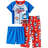 Thomas the Train and Friends Boys 3 piece Pajamas Set (3T, Team Thomas Blue/Red)