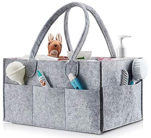 (Storage Tote Organizer Caddy Yarn-Needle Bag Baby Diaper Tote Mail Sorter Arts and Crafts Bag Nursery Changing Table Organizer Knitting Tote Toy Storage Bin Car Diaper Tote Guest Room Toiletries Tote)