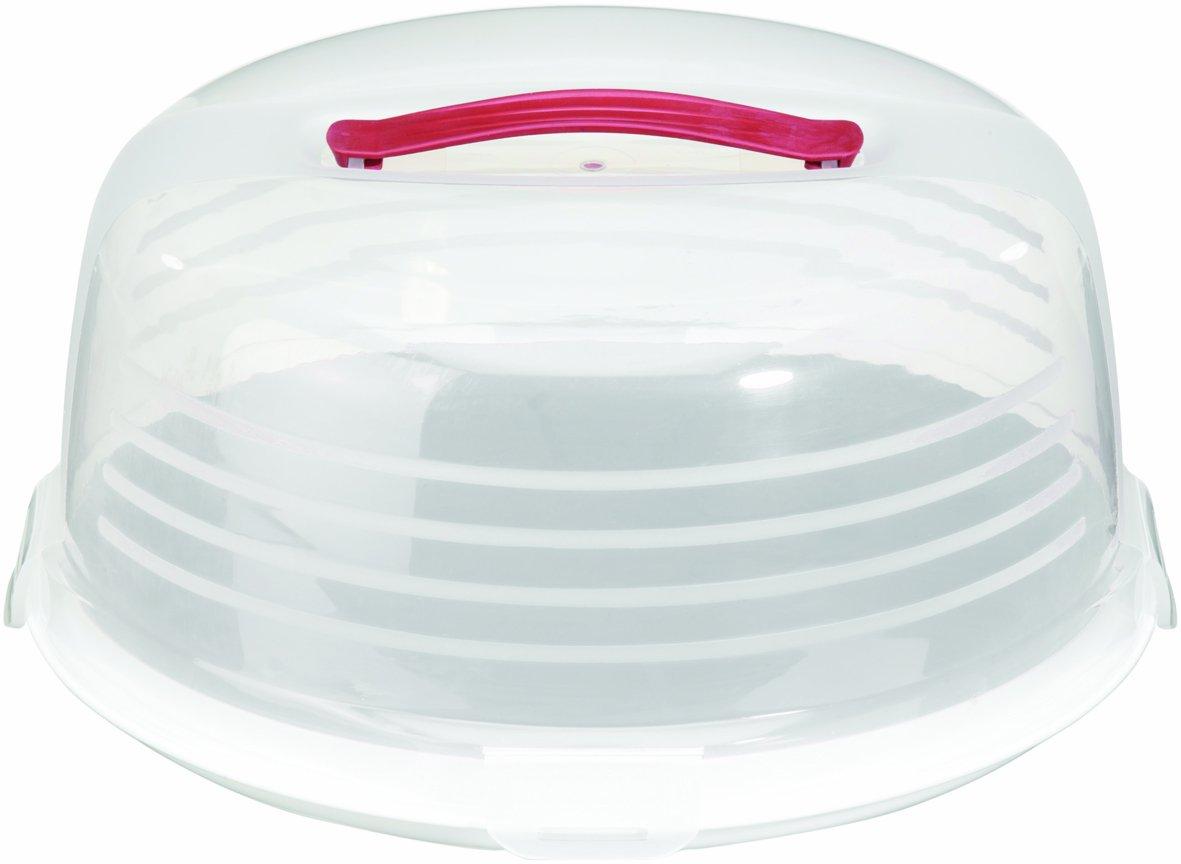 Curver round cake box transparent white ebay - Boite plastique transparente ikea ...