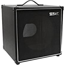 Seismic Audio-1x12 Guitar Speaker Cab Empty-7 Ply Birch-12-Inch Cube Cabinet-Black Tolex, Black Removable Cloth Grill-Front Loading Speakerless Cabinet