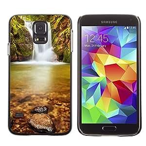 Be Good Phone Accessory // Dura Cáscara cubierta Protectora Caso Carcasa Funda de Protección para Samsung Galaxy S5 SM-G900 // Wateerfall Nature