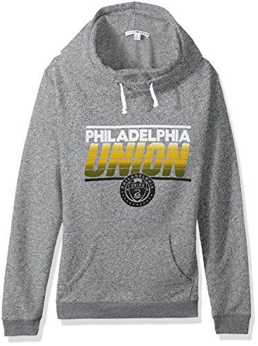 Junk Food MLS Philadelphia Union Women's Major League Soccer Cowl Pullover, XX-Large, Heather from Junk Food