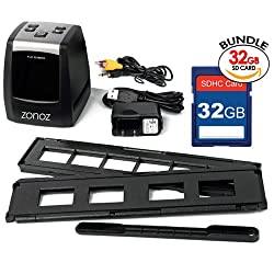 Zonoz Fs-one 22mp Ultra High-resolution 35mm Negative Film & Slide Converter Scanner Wlcd, No Computer Or Software Required, Tv Cable, & Worldwide Voltage 110v240v Ac Adapter & 32gb Sd Card (Bundle)