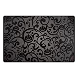 Cooper girl Damask Halloween Pumpkin Modern Decorative Area Rug Pad Floor Mat 31x20 for Living Dining Room Bedroom