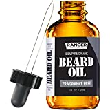 Fragrance Free Beard Oil & Leave In Conditioner, 100% Pure Natural for Groomed Beards,...