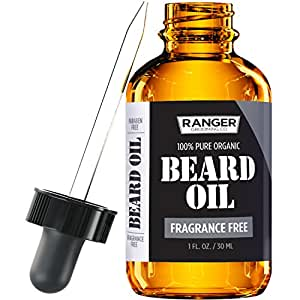 Fragrance Free Beard Oil & Leave In Conditioner, 100% Pure Natural for Groomed Beards, Mustaches, and Moisturized Skin 1 oz by Ranger Grooming Co by Leven Rose