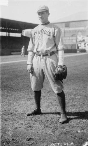 1912 photo Del Pratt, St. Louis AL baseball Vintage Black & White Photograph g6