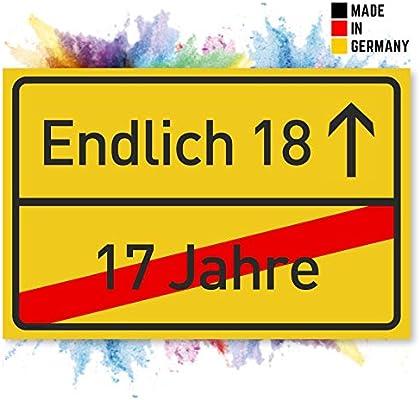 18 Geburtstag Schild Lustige Geschenke Oder Dekoration Party