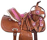 AceRugs Premium 10″ 12″ 13″ Western Youth Pony Mini Horse Saddle TACK Headstall REINS Breast Collar Set