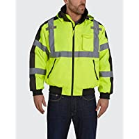 Utility Pro UHV575X-4XL UHV575 High-Vis Bomber Jacket with Removable Fleece Liner and Waterproof DuPont Teflon, Lime, 4X… 3