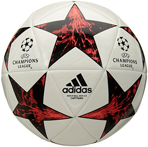 adidas Performance Champion's League Finale Capitano Soccer Ball, White/Black/Victory Red/Solar Red/Pink, 5 (Adidas Ball Finale)
