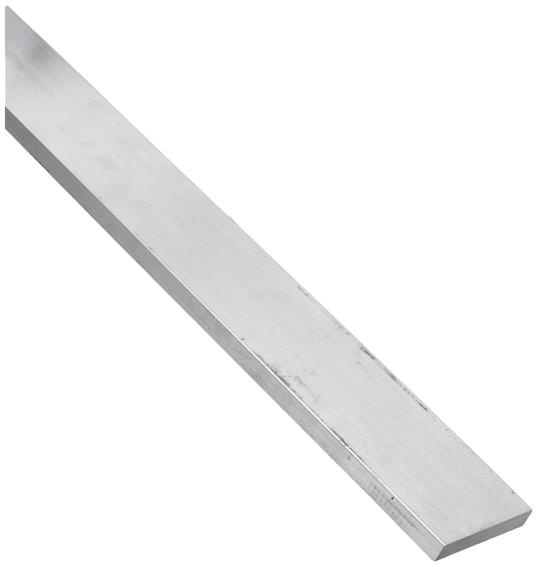 6061 Aluminum Rectangular Bar, Unpolished (Mill) Finish, 1' Thickness, 3/16' Width, 72' Length 1 Thickness 3/16 Width 72 Length Small Parts Inc 6061.188 X 1.000FLTL6.000