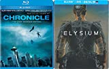 Elysium Exclusive Steelbook Edition & Chronicle Blu Ray 2 Pack Sci-Fi Actrion Movie Set