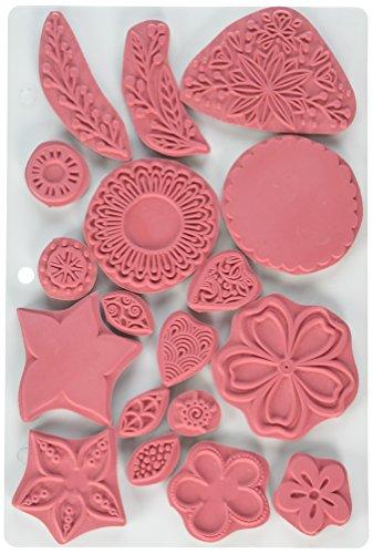 Threaders TH-ST-03-EZ Rubber Stamp Set, Pink