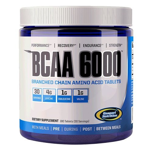 Cheap Gaspari Nutrition BCAA 6000 Tablets, 180 Count