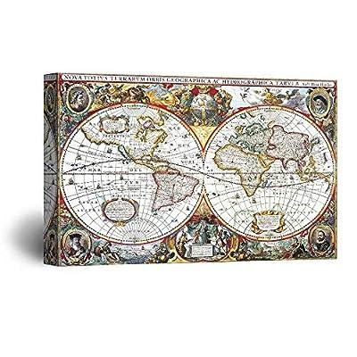 Early Vintage Map of The World (Nova Totius...24x36