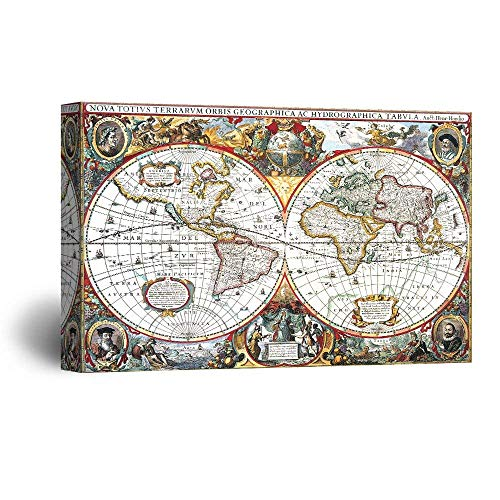 Early Vintage Map of The World (Nova Totius Terrarum Orbis Tabula)