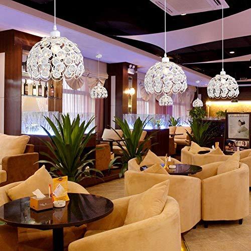 FDA3H Luminaires suspendus Luminaires suspendus Cage creuse en cristal avec plafond, style d'éclairage moderne pour le salon Bar de salle à hommeger IP20 E27Base Suspension sans ampoules [Classe énergét