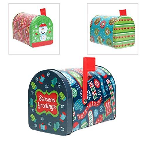 MAZEL Christmas Tin Mailbox (Christmas Mailbox)