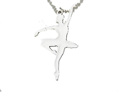68e5158840 CARINGA - Collana ciondolo Ballerina Color Argento - Tutù - Danza Classica:  Amazon.it: Gioielli