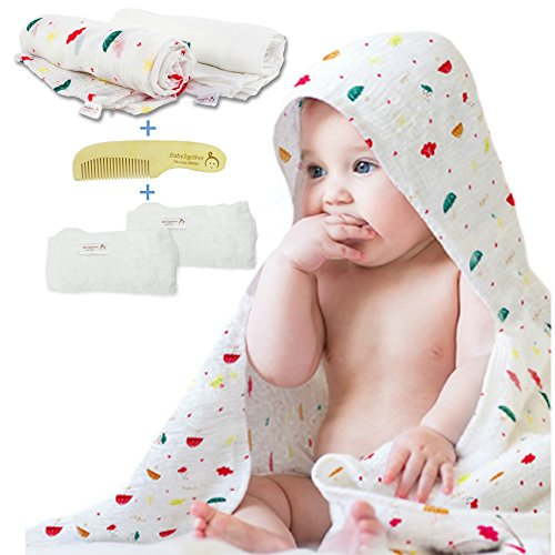 Muslin Swaddle Blankets Unisex - Organic Cotton Blankets Whi