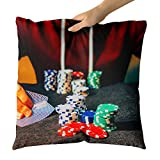 Westlake Art - Gambling Poker - Decorative Throw Pillow Cushion - Picture Photography Artwork Home Decor Living Room - 16x16 Inch