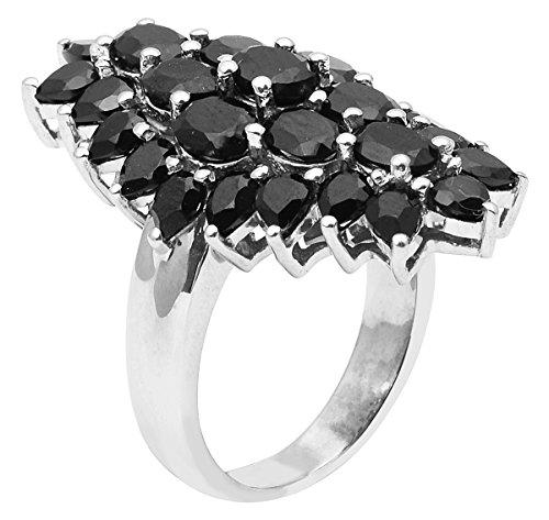 Banithani 925 argent incroyable bague de bande spinelle noir femmes mode indien bijoux