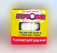 Trick Exploding & Unputtable Golf Ball 3 Pack