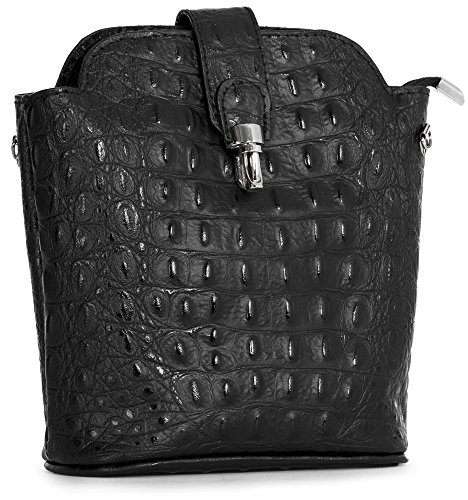 Handbag tracolla a Big One Shop Croc donna Black Borsa 6zUqxHqw