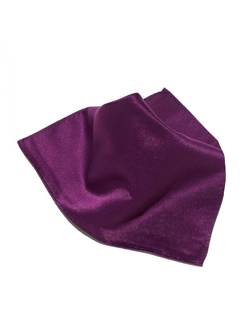 Vesuvio Napoli Solid Color Hankerchief Pocket Square Hanky Mens Handkerchiefs