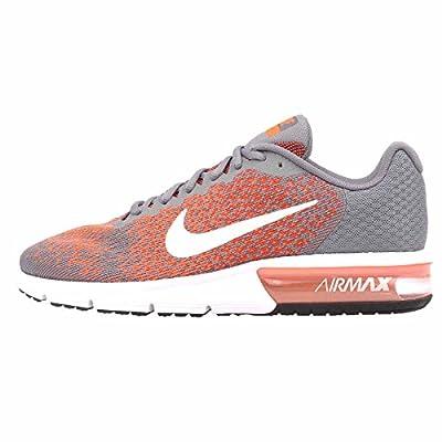 Nike Men's Air Max Sequent 2, Cool Grey/White-Max Orange, 6 M US