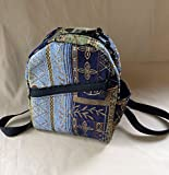 Ladies Backpack Purse Backpack Handbag handmade in Sapphire or Crimson Tapestry by MKI Bags