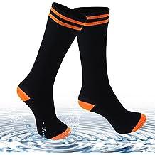 Waterproof Socks for Men and Women, [SGS Certified] Unisex Knee Length and Mid-Calf 100% Waterproof & Highly Breathable Hiking /Trekking /Ski Sock (1 Pair)