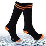 Waterproof Socks for Men and Women, [SGS Certified] Unisex Knee Length and Mid-Calf 100% Waterproof & Highly Breathable Hiking/Trekking/Ski Sock 1 Pair(Medium)