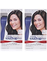 Clairol Nice 'n Easy Root Touch-Up 4 Kit (Pack of 2), Matches Dark Brown Shades of Hair Coloring, Includes Precision Brush Applicator Tool