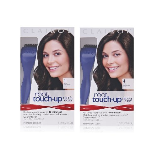 Clairol Nice 'n Easy Root Touch-Up 4 Matches Dark Brown Shades 1 Kit, (Pack of - N Clairol Brush Easy Nice
