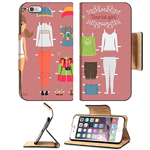 Usa Dress Up Ideas (Luxlady Premium Apple iPhone 6 Plus iPhone 6S Plus Flip Pu Leather Wallet Case IMAGE ID: 34568120 Tourist Girl Paper Doll with Clothes and Shoes)