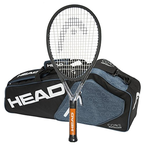 Head Ti.S6 STRUNG Tennis Racquet with 3 Racquet Bag (4-1/4)