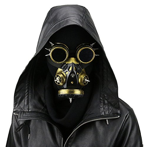 Steampunk Gas Goggles Skeleton Warrior Death Mask Masquerade Chrismas Cosplay Props ()
