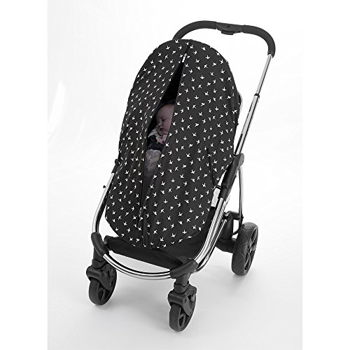 Outlook Universal Cotton Sleep Eazy Stroller Cover (Black Swallows) by Outlook 2010 (Image #2)
