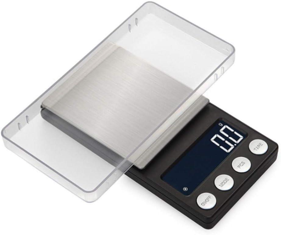 Relaxbx Bilancia Digitale Bilancia Elettronica Alta precisione 0,01 G Mini Tasca Gioielli Scala Carati Medicina Portatile Bilancia elettronica-100G/0,01G 200g/0.01g