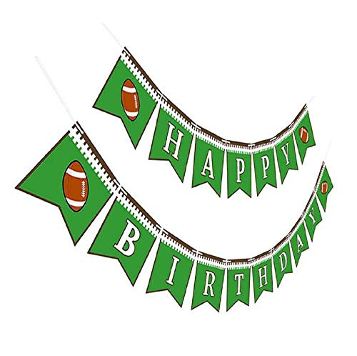 - Maplelon Football Birthday Party Banner | Sports Bday Bunting Sign Decorations