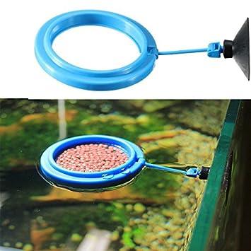 Acuario Fish Tank Alimentación círculo círculo alimentos alimentador/acuario pecera Alimentación Alimentador de Alimentos.