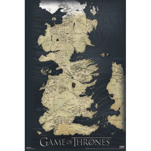 Game of thrones map amazon pyramid game of thrones map wall poster publicscrutiny Images