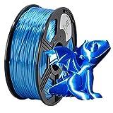 YOYI Silk PLA 3D Printer Filament 1.75mm 1KG Spool(2.2 lbs), 100% Virgin Raw Material, Dimensional Accuracy +/- 0.03 mm,Reach Certificate,Eco-Friendly (Blue)