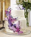 Beautiful Butterfly Cake Set - Purple Splendor