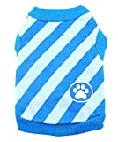 SMALLLEE_LUCKY_STORE Stripe Shirt for Small Dogs, Medium, Blue For Sale