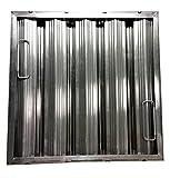 16'' tall x 16''wide x 2'' Trine Heavy Duty Aluminum Restaurant Hood Baffle Filter (Dual Riveted / Ridged Baffle)