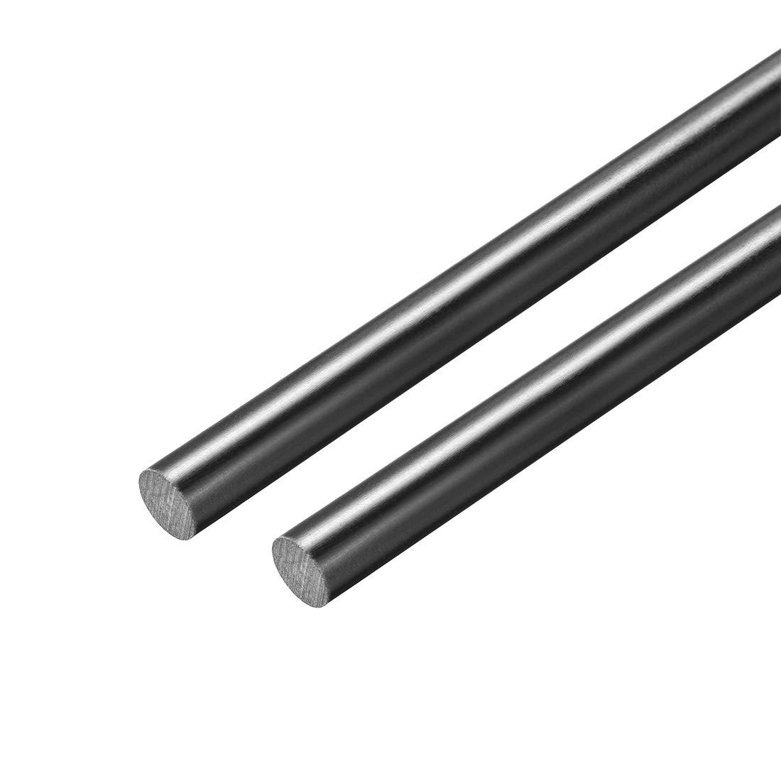 uxcell Plastic Round Rod,3//16 inch Dia 20 inch Length,Black FRP Fiberglass Round Rod Engineering Plastic Bar