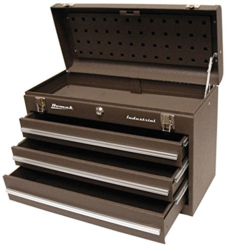 Homak Industrial 20-Inch 3-Drawer Friction Toolbox, Brown Wrinkle Powder Coat, BW00203200 by HMC Holdings LLC - Homak (Image #1)